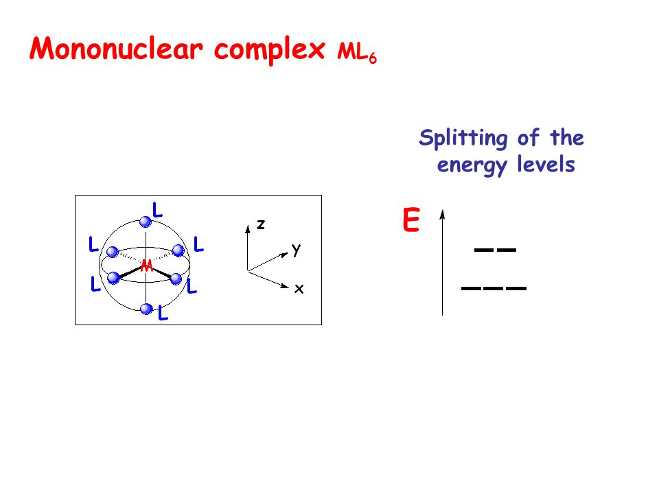 Mononuclear complex ML6