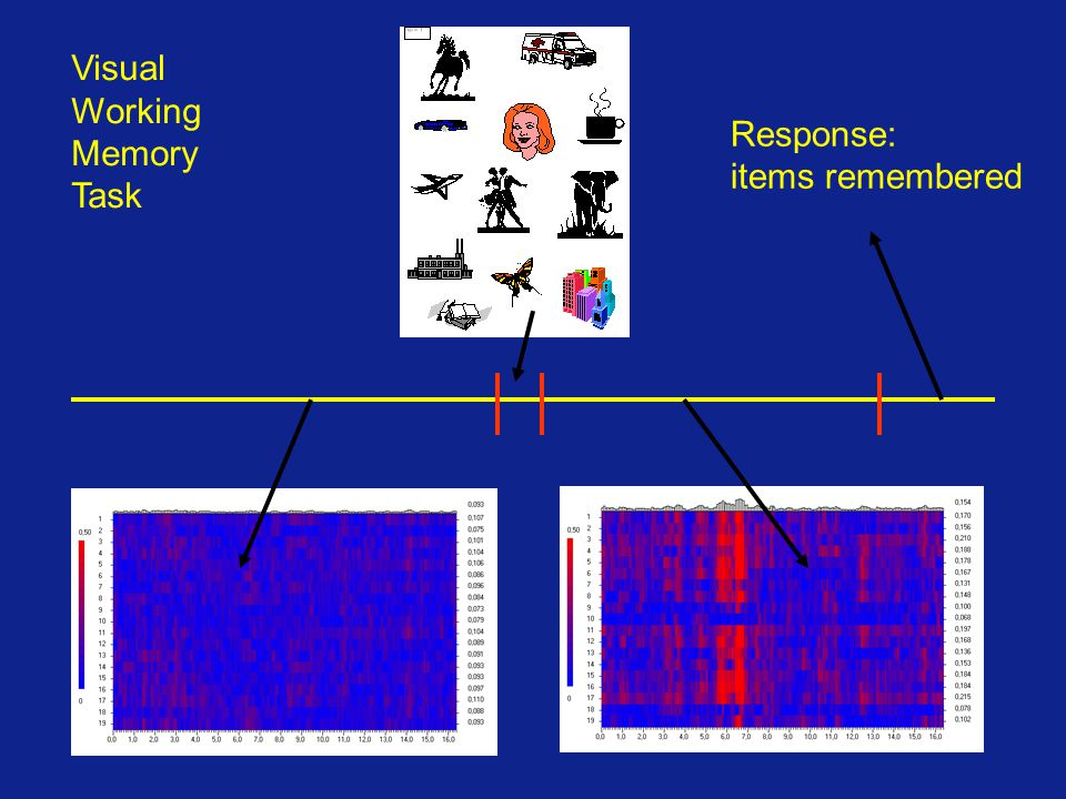 Visual Working Memory Task Response: items remembered