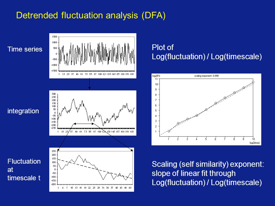 Detrended fluctuation analysis (DFA)