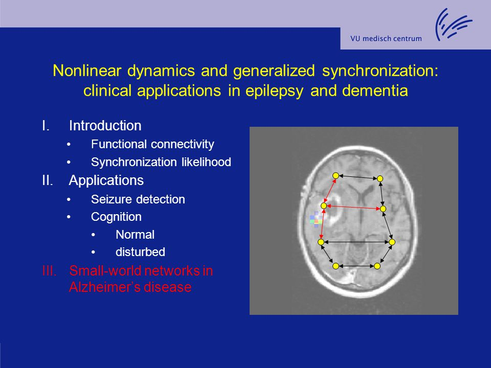 Nonlinear dynamics and generalized synchronization: clinical applications in epilepsy and dementia