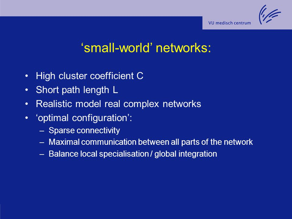 'small-world' networks: