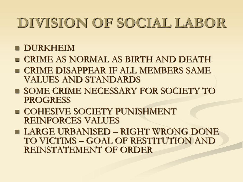 DIVISION OF SOCIAL LABOR
