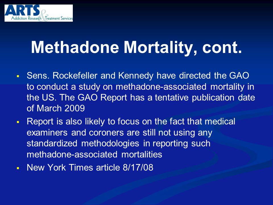 Methadone Mortality, cont.