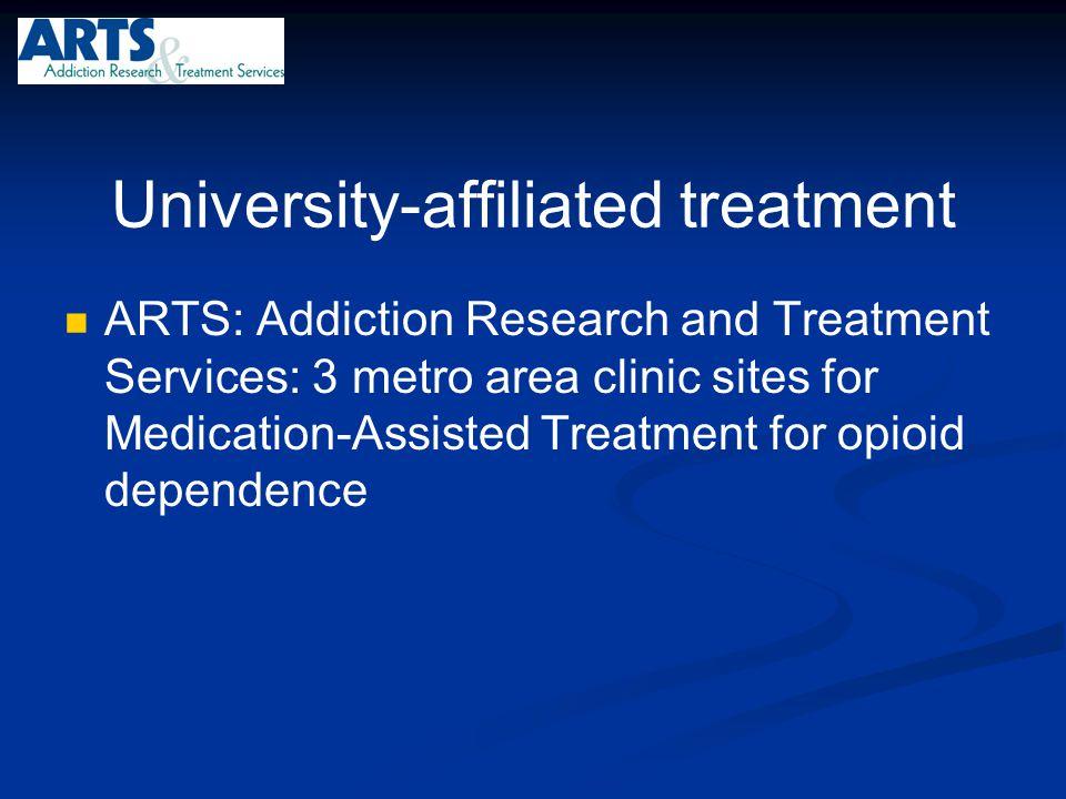 University-affiliated treatment