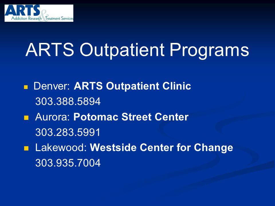 ARTS Outpatient Programs