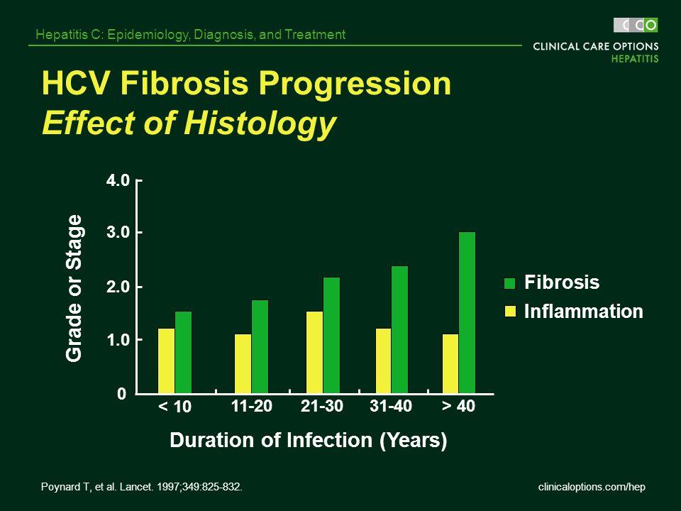 HCV Fibrosis Progression Effect of Histology