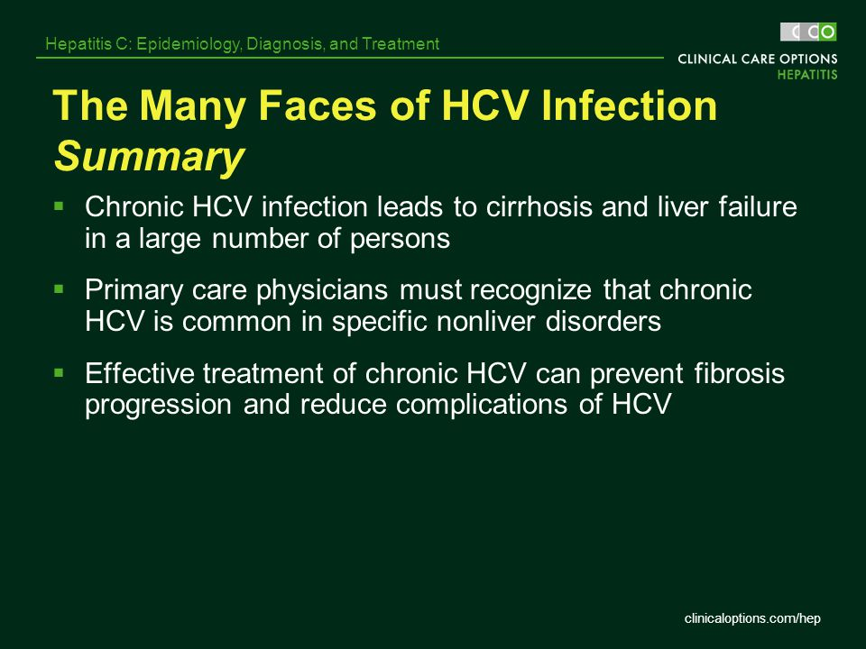 The Many Faces of HCV Infection Summary
