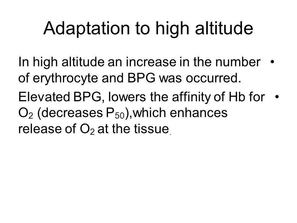 Adaptation to high altitude