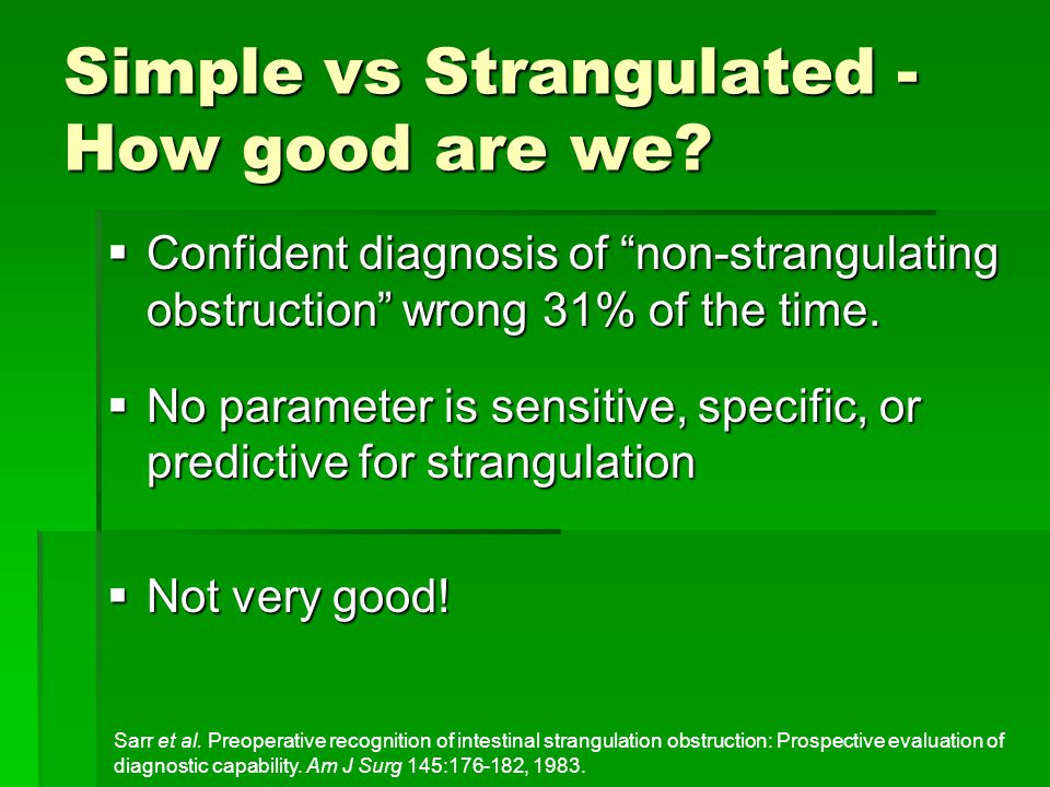Simple vs Strangulated - How good are we