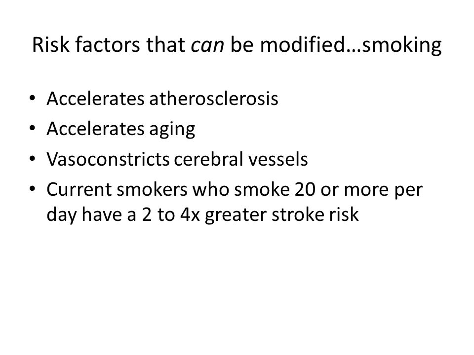 Risk factors that can be modified…smoking