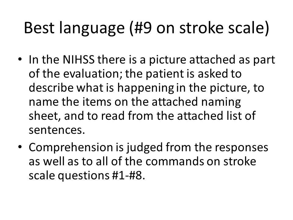 Best language (#9 on stroke scale)