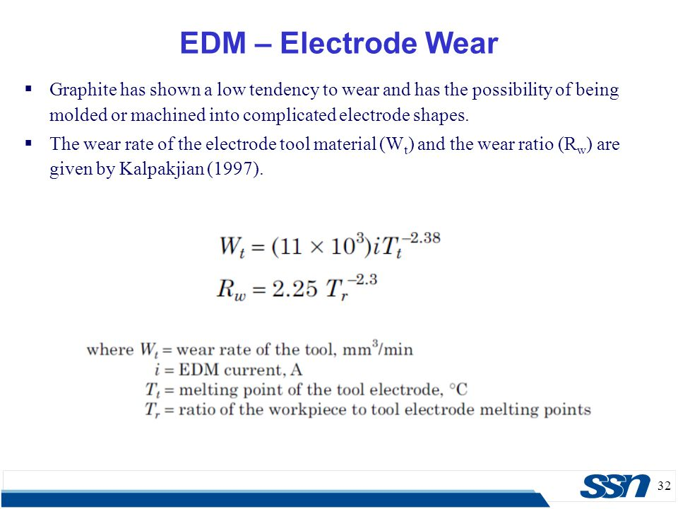 EDM – Electrode Wear Graphite has shown a low tendency to wear and has the possibility of being molded or machined into complicated electrode shapes.