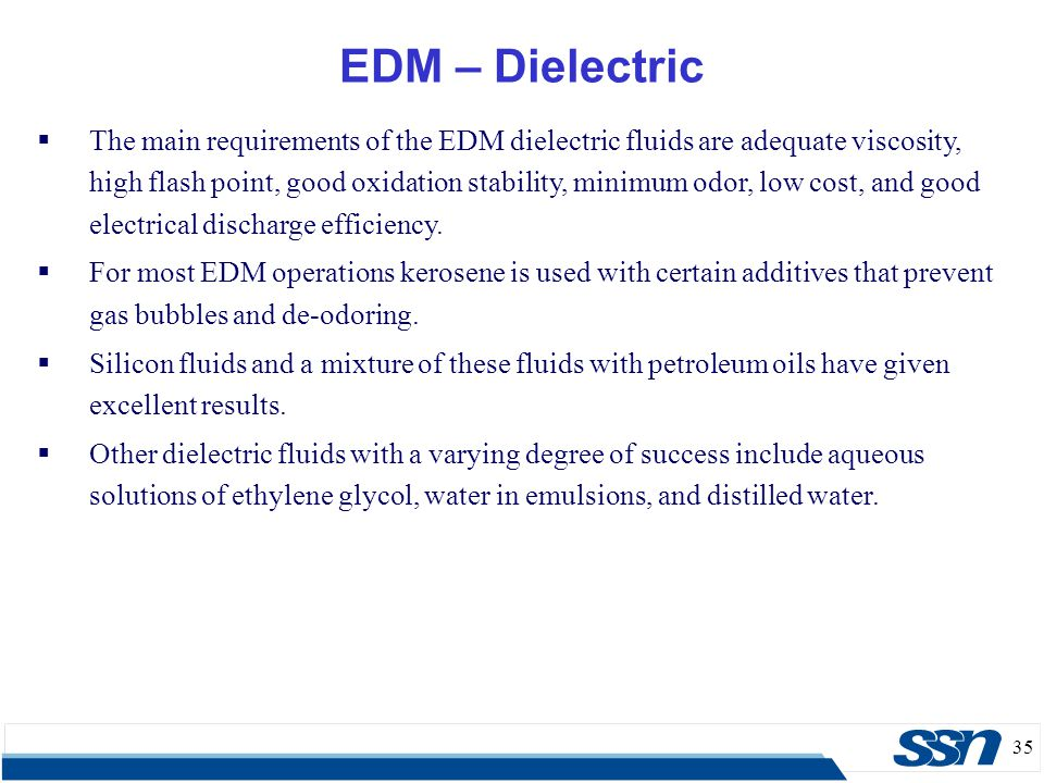 EDM – Dielectric