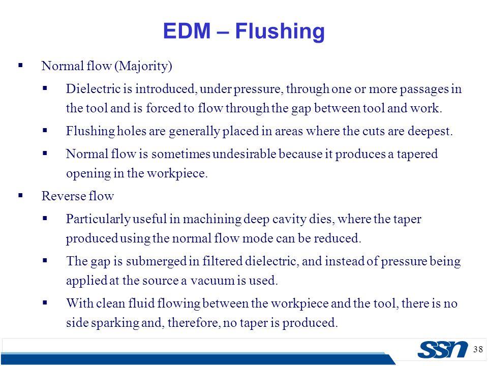 EDM – Flushing Normal flow (Majority)