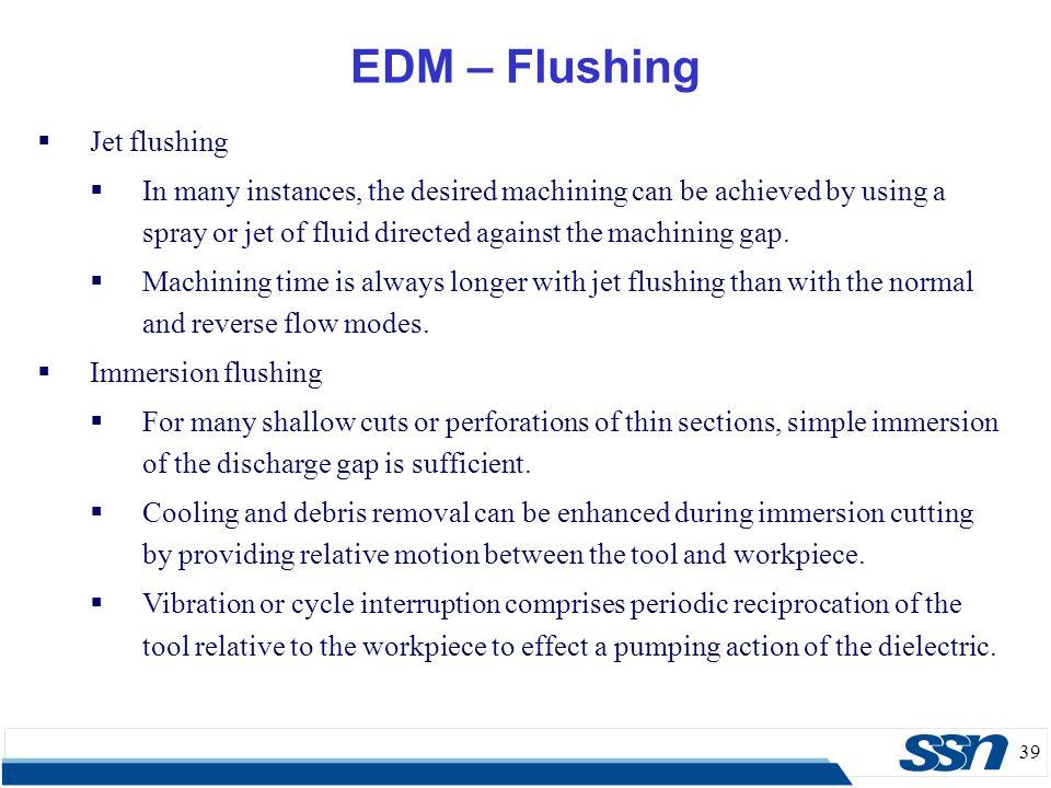 EDM – Flushing Jet flushing