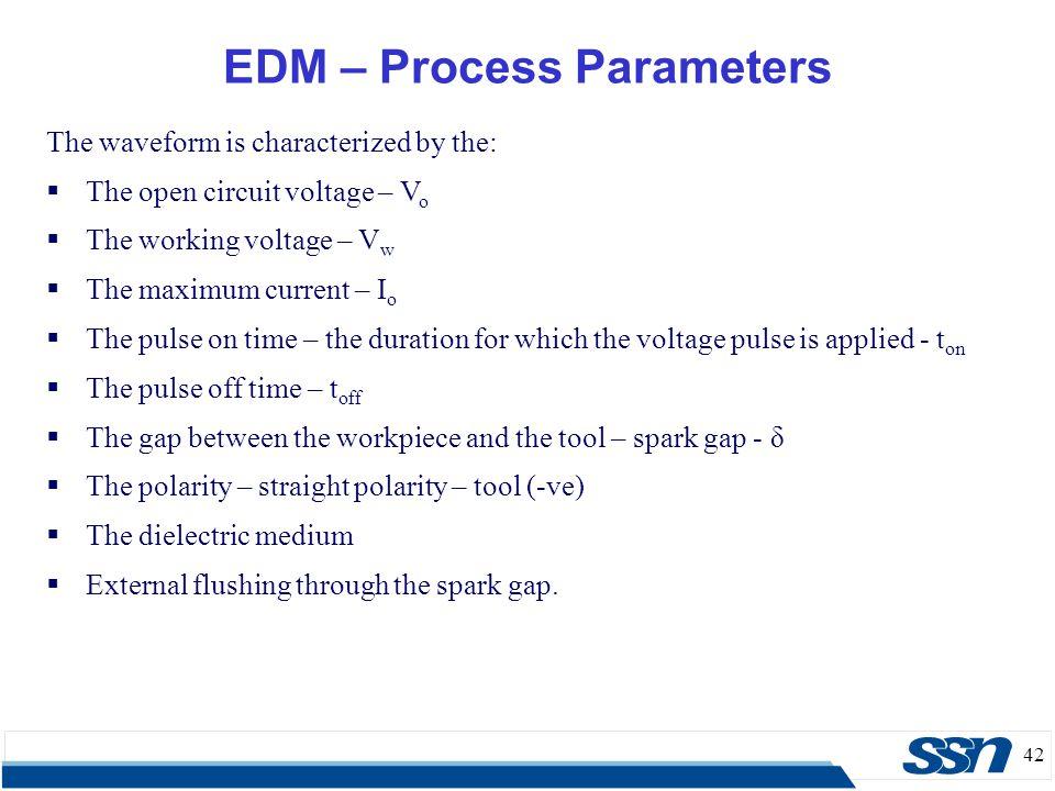 EDM – Process Parameters