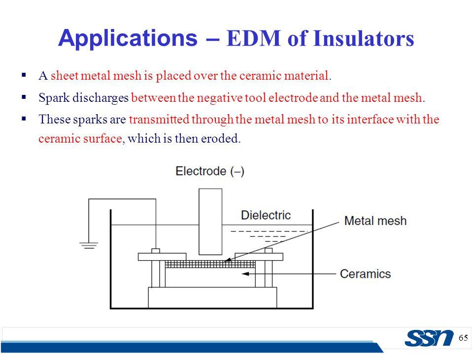 Applications – EDM of Insulators