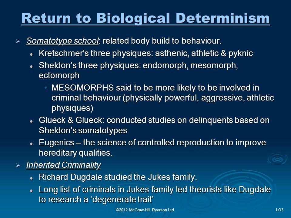 Return to Biological Determinism