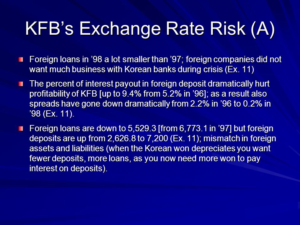 KFB's Exchange Rate Risk (A)