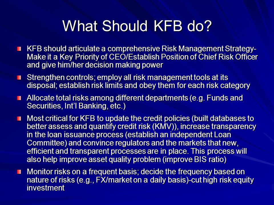 What Should KFB do