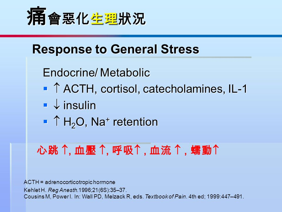 Response to General Stress