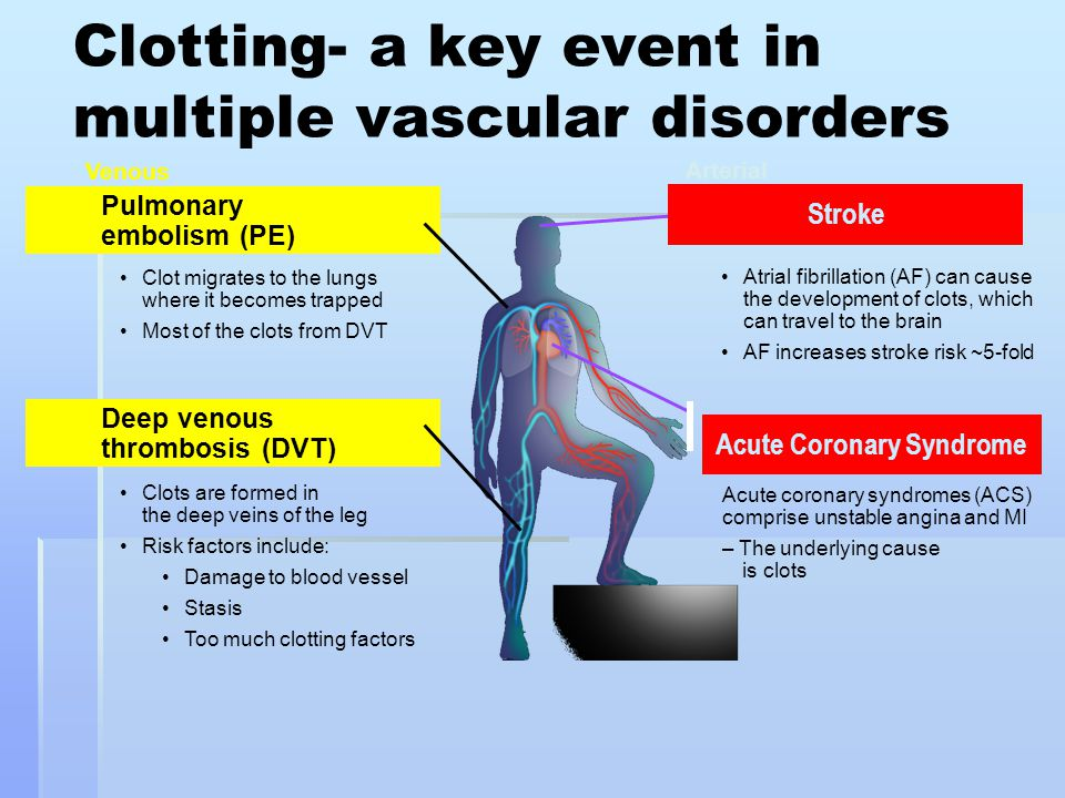 Clotting- a key event in multiple vascular disorders