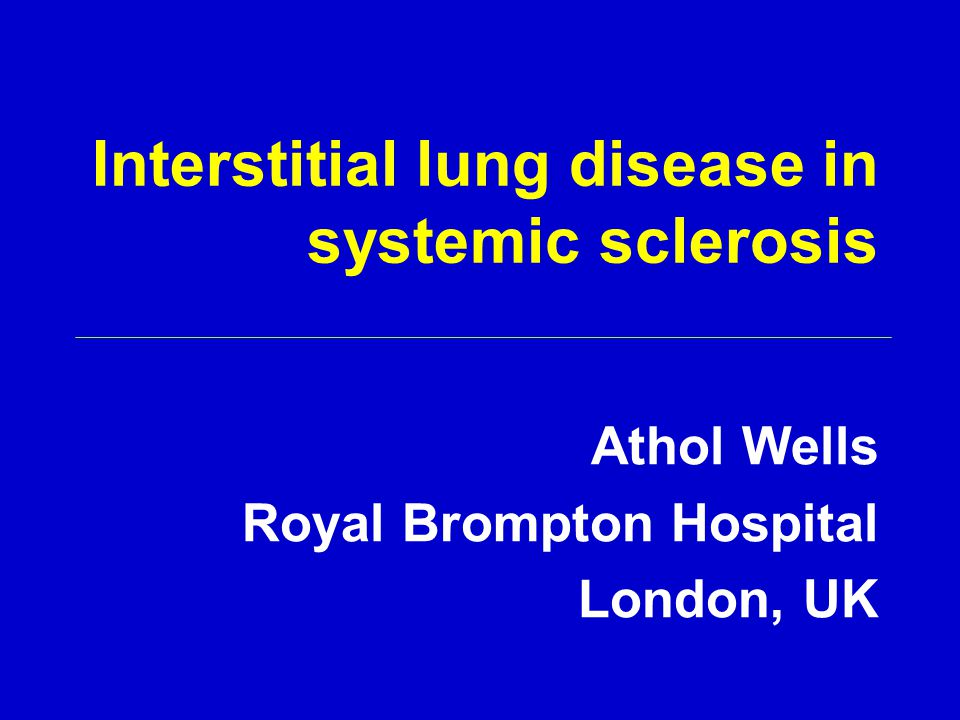 Interstitial lung disease in systemic sclerosis