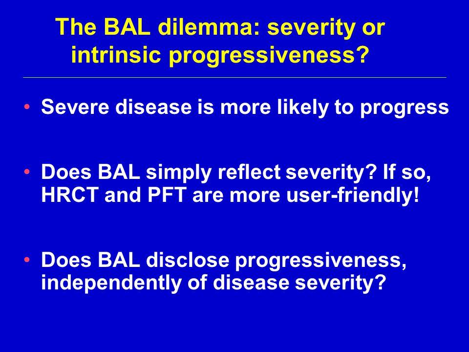The BAL dilemma: severity or intrinsic progressiveness