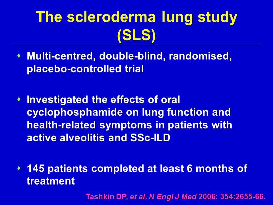 The scleroderma lung study (SLS)