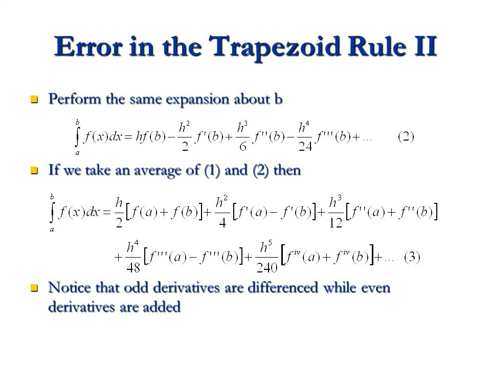 Error in the Trapezoid Rule II