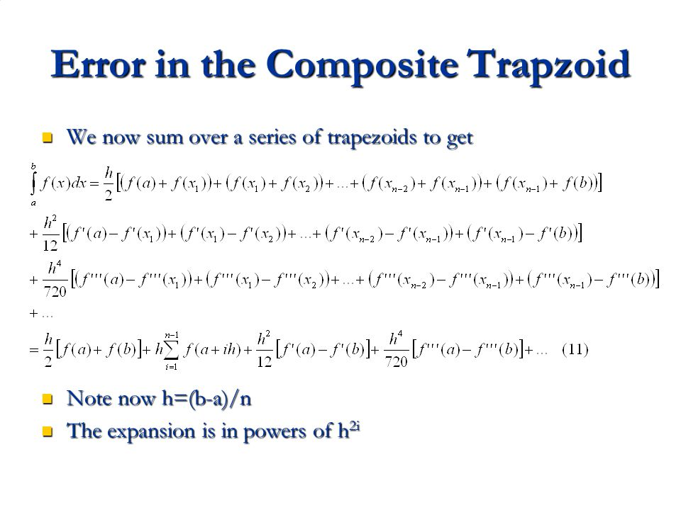 Error in the Composite Trapzoid