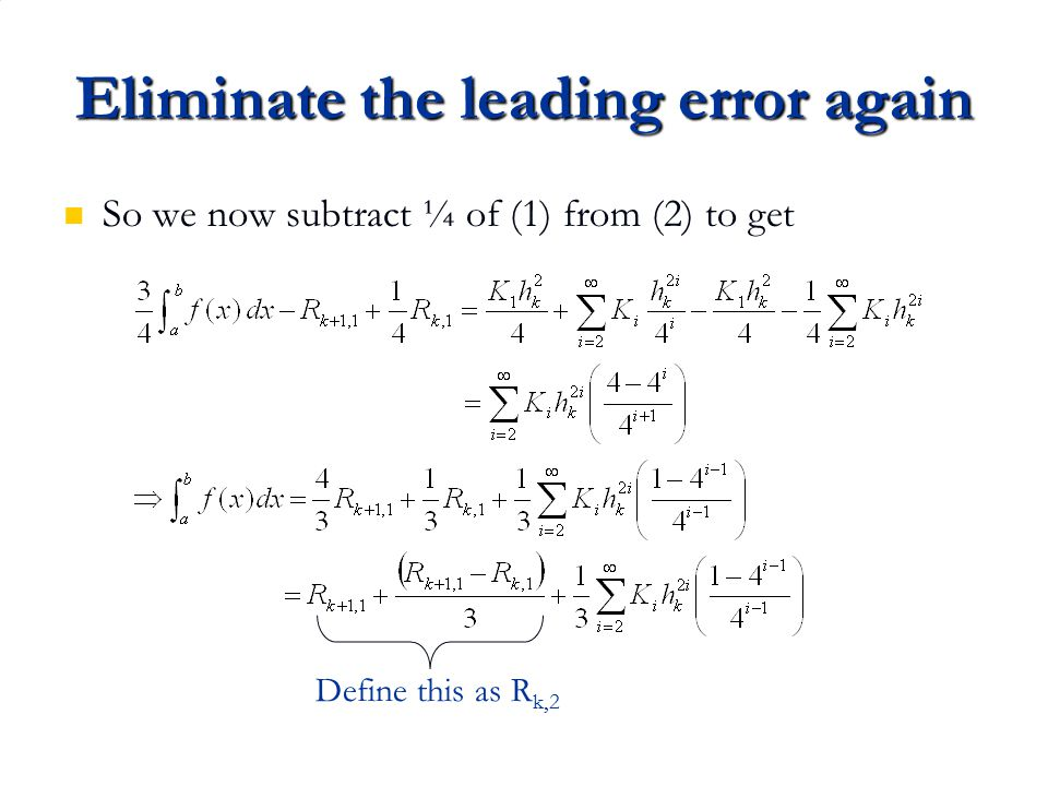 Eliminate the leading error again