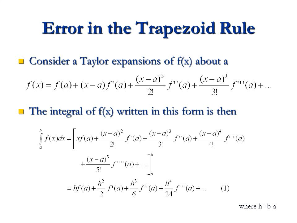 Error in the Trapezoid Rule