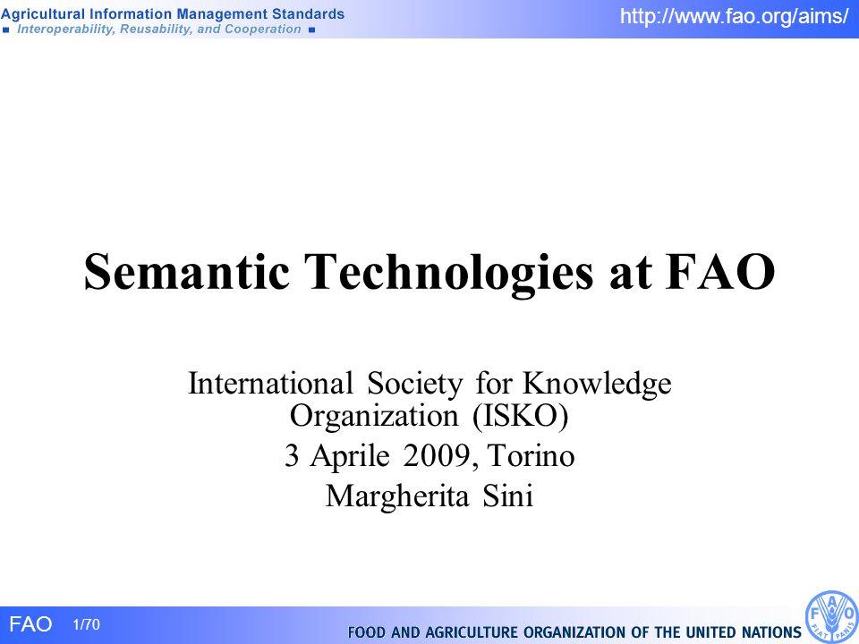 Semantic Technologies at FAO