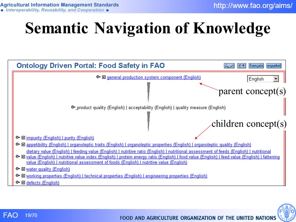 Semantic Navigation of Knowledge