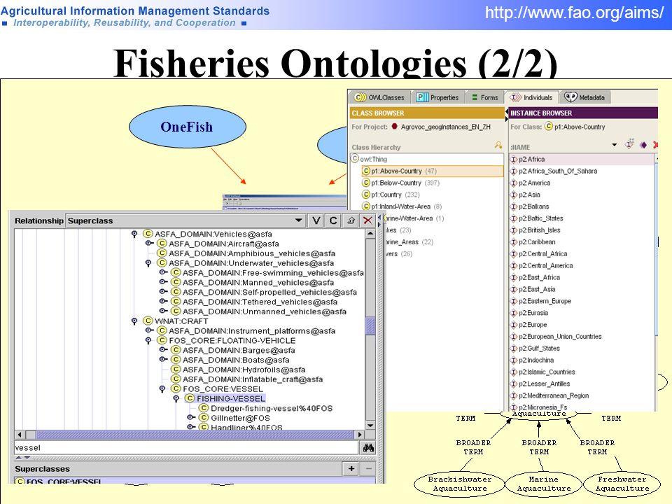 Fisheries Ontologies (2/2)