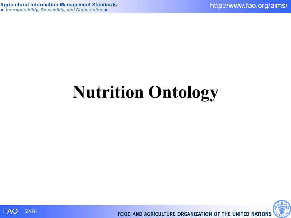 Nutrition Ontology