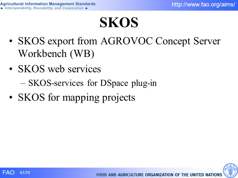 SKOS SKOS export from AGROVOC Concept Server Workbench (WB)