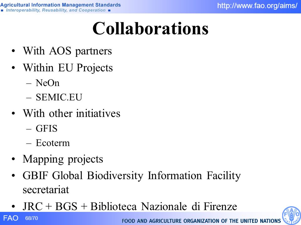 Collaborations With AOS partners Within EU Projects