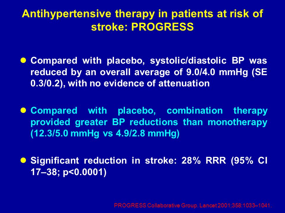 Antihypertensive therapy in patients at risk of stroke: PROGRESS