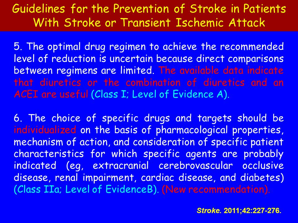 Guidelines for the Prevention of Stroke in Patients With Stroke or Transient Ischemic Attack