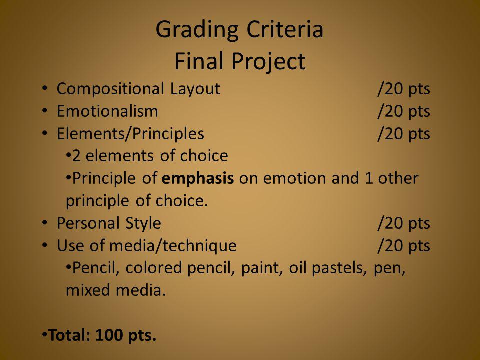 Grading Criteria Final Project