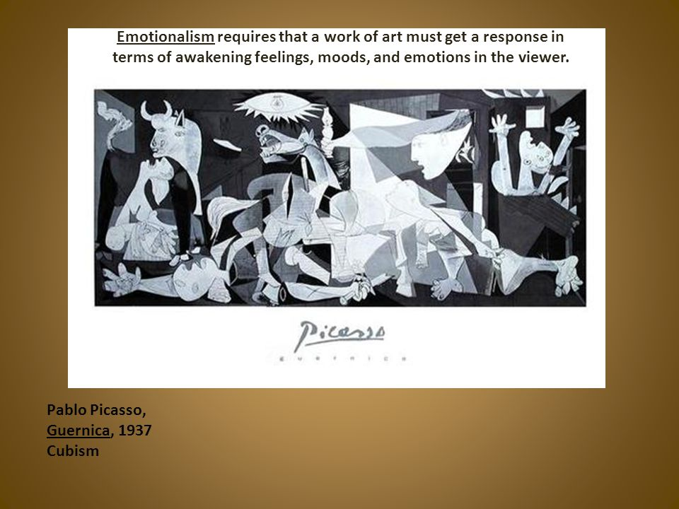 Emotionalism requires that a work of art must get a response in