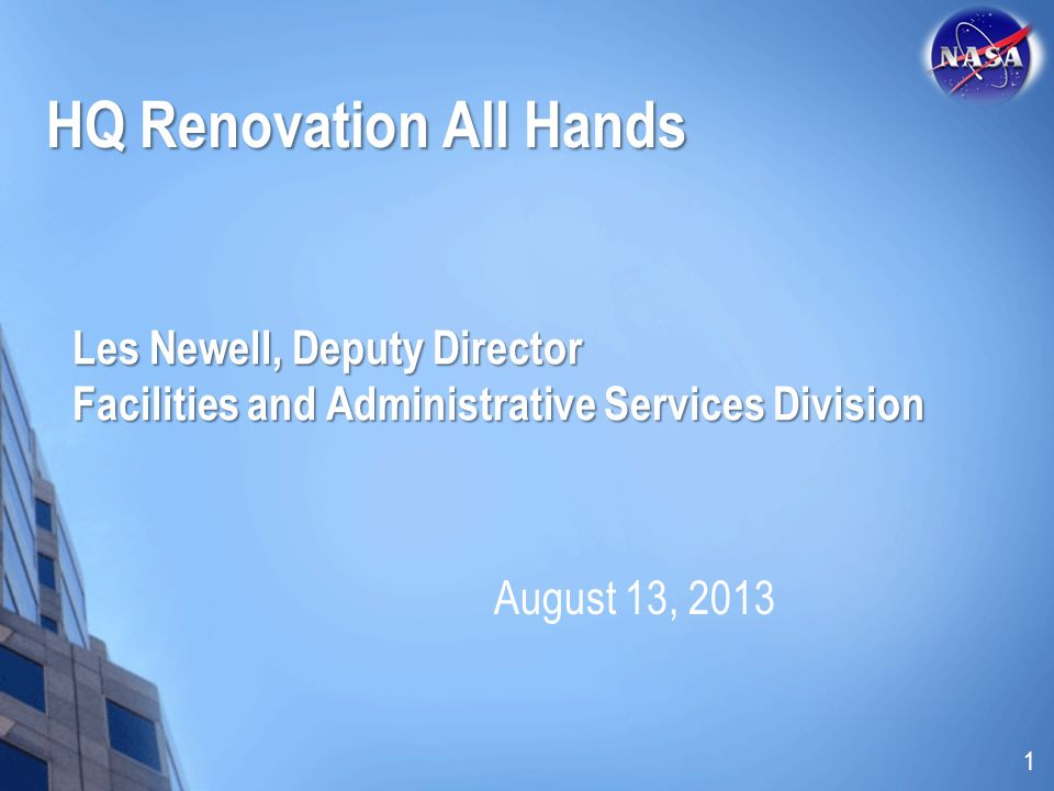 HQ Renovation All Hands