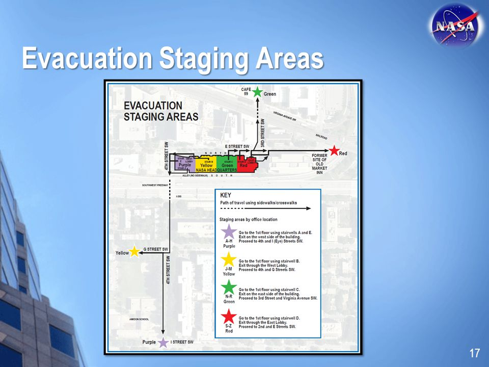 Evacuation Staging Areas