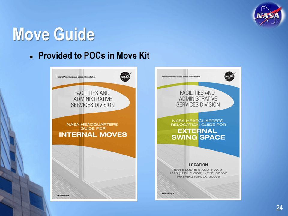 Move Guide Provided to POCs in Move Kit