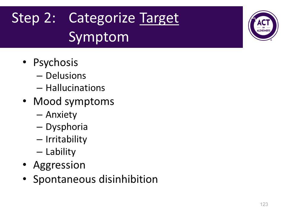 Step 2: Categorize Target Symptom