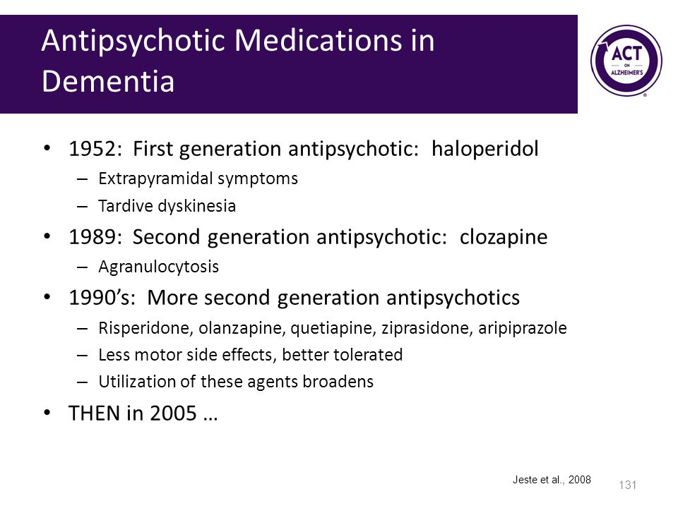 Antipsychotic Medications in Dementia