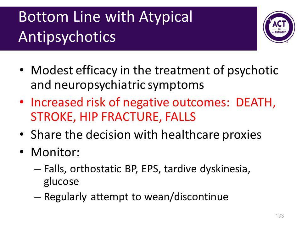Bottom Line with Atypical Antipsychotics