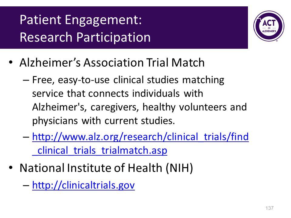 Patient Engagement: Research Participation
